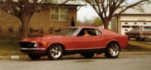 Dana in his 1970 Mach I Mustang