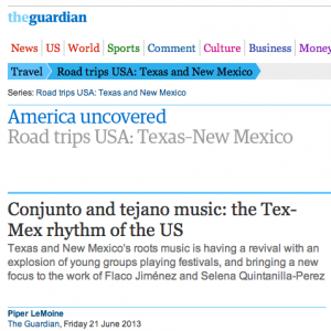 Rancho Alegre Talks Tejano and Conjunto in the Guardian